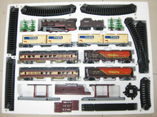 Super long rail train toy suit 9.4m rail way 1/87 vintage Steam train tank truck passenger train assemble transport toy  gift(China (Mainland))