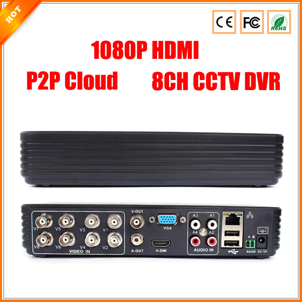8CH DVR FULL D1 Standalone CCTV DVR Recorder with P2P Cloud, Network Monitoring, Mobile Phone monitoring(China (Mainland))