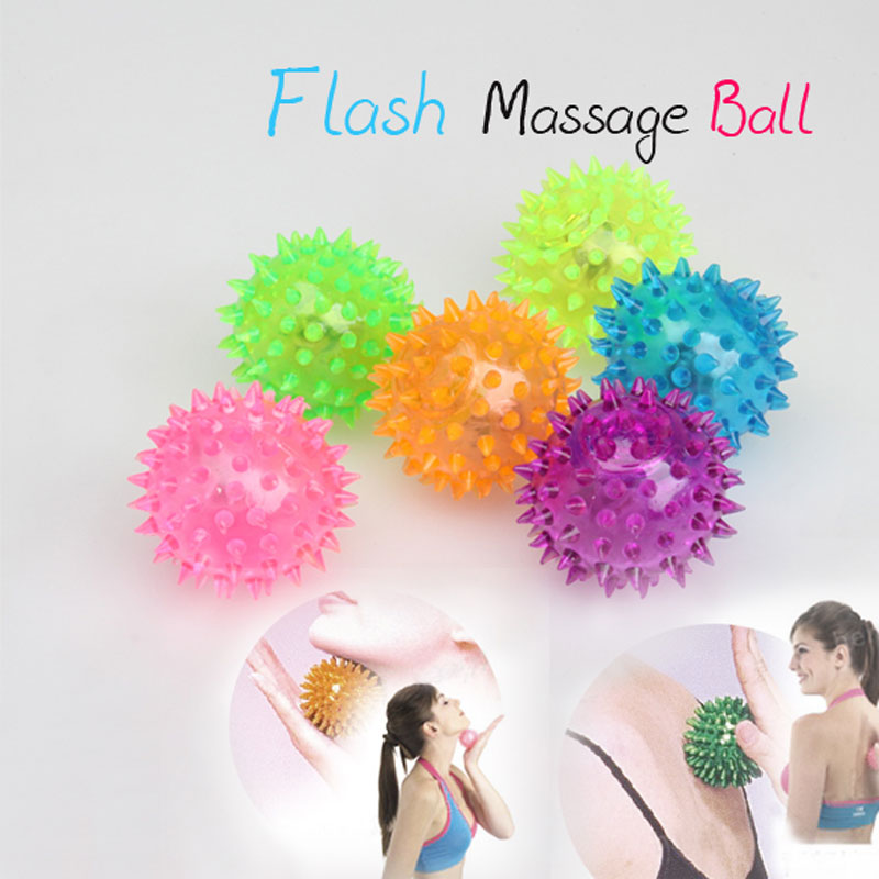 Flashing Light Up Spikey Body Massage Ball High Bouncing Novelty Sensory Hedgehog Ball(China (Mainland))