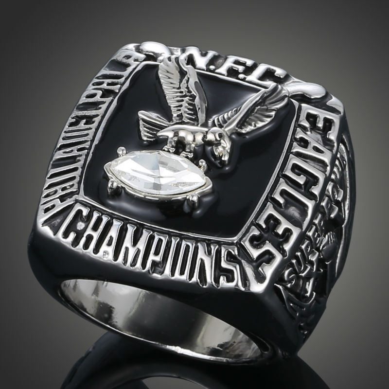 2015 New European and American NFL Champion Replica Ring 1980 Philadelphia Eagles Super Bowl Championship Ring Fans Loves J02029(China (Mainland))