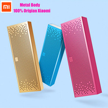 Newest Best Selling Original Xiaomi Metal Square Box Protable Wireless Bluetooth Speaker With TF Card Outdoor Sport 3D Subwoofer