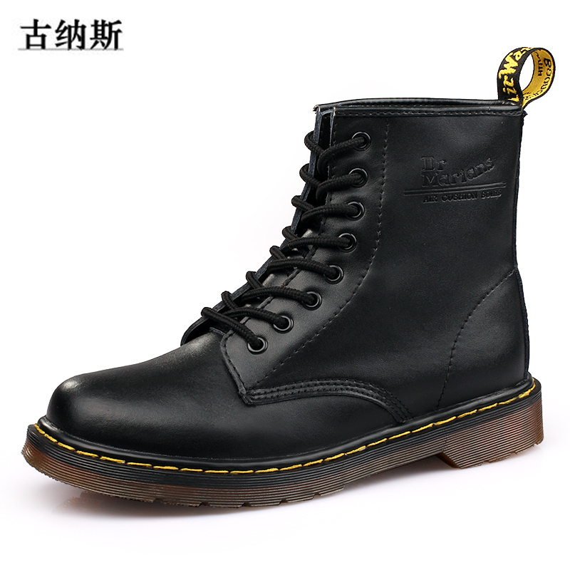 2017 Fashion Ankle Boots Men Winter Genuine Leather Riding Equestrian Boot Leisure Martin Boots Male England Retro Shoes lovers(China (Mainland))