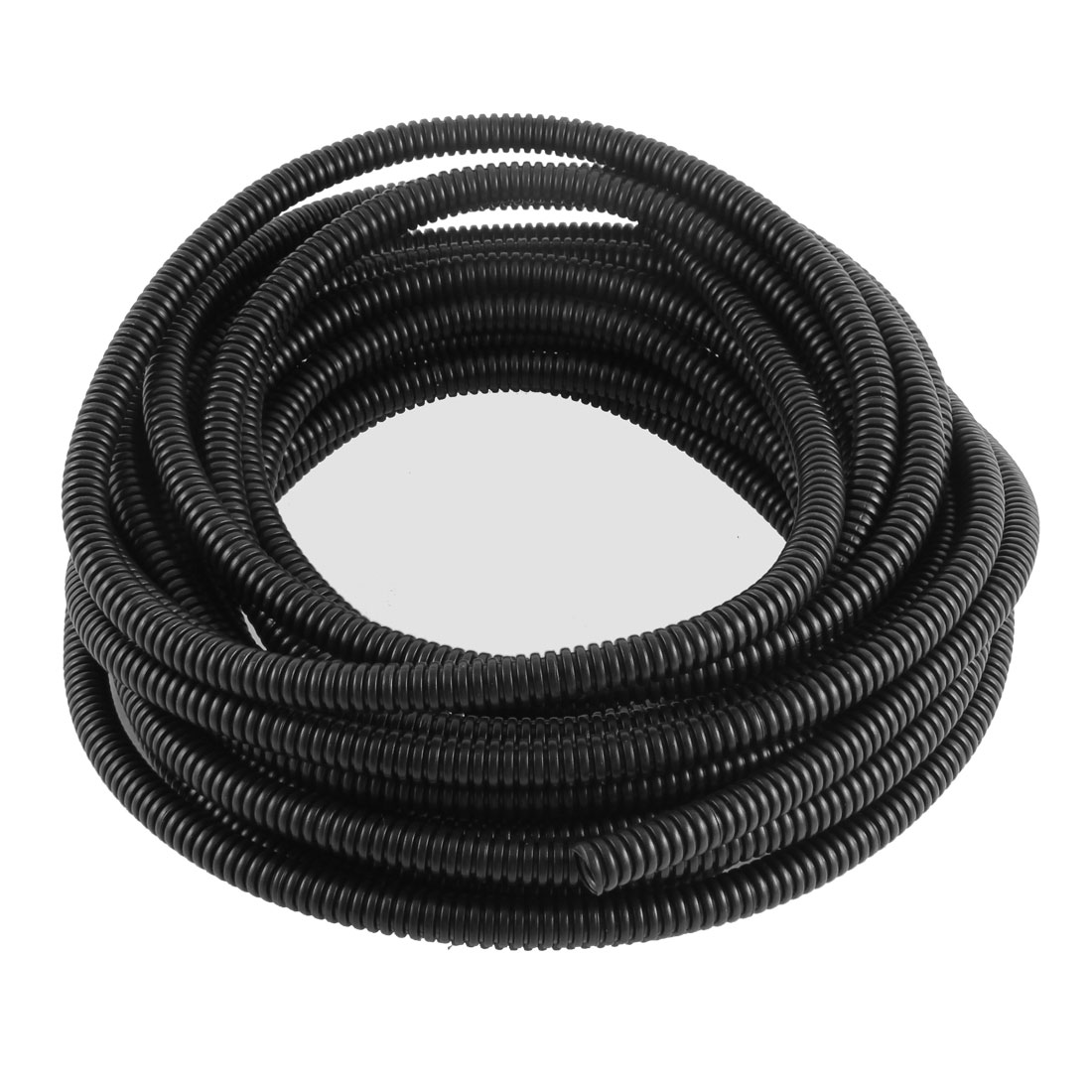 10mm x 8mm Dia Flexible Bellows Hose Corrugated Conduit Cable Tube Pipe 9M Black(China (Mainland))