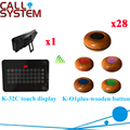 Wireless Restaurant Service Bell System 2016 Good Qualtity Best Price Calling Equipment CE Passed 1 display