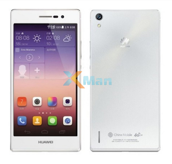 "Original 4G Huawei Ascend P7 L00 Android 4.4 Cell Phones FDD LTE Kirin 910T Quad Core 2GB RAM 16GB ROM 5.0"" Screen 13.0MP Anna(China (Mainland))"