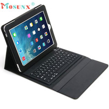 Hot selling Mosunx New! Fashion Super NEW Bluetooth Silicone Keyboard Stand Leather Case Cover For iPad Air 2 1PC(China (Mainland))