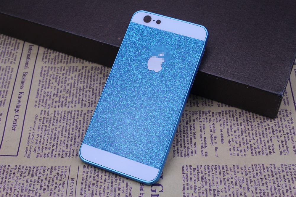 Здесь можно купить  50pcs Luxury Bling Full Body Decal Glitter Back Film Sticker Case Cover For iPhone 6 4.7 Free shipping  Телефоны и Телекоммуникации