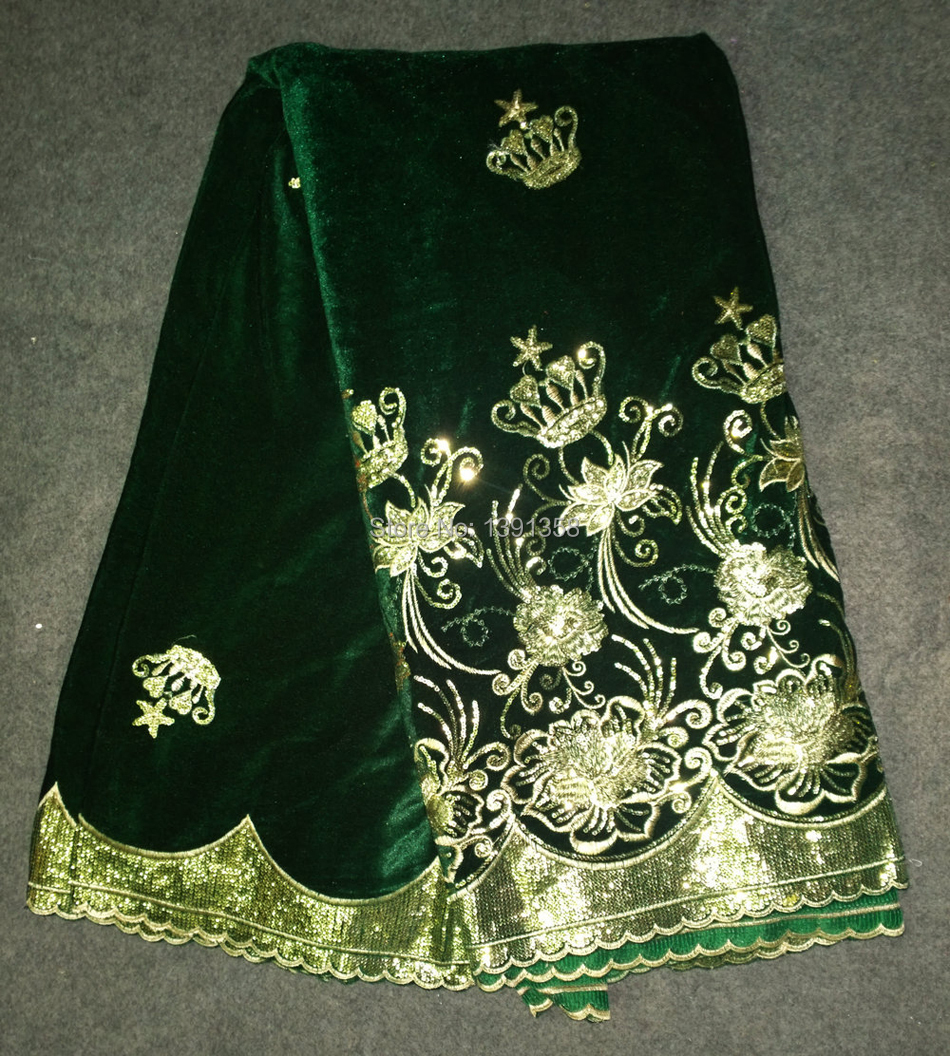 Shinning design flannelette micro velvet lace fabric with for Clothing materials for sale