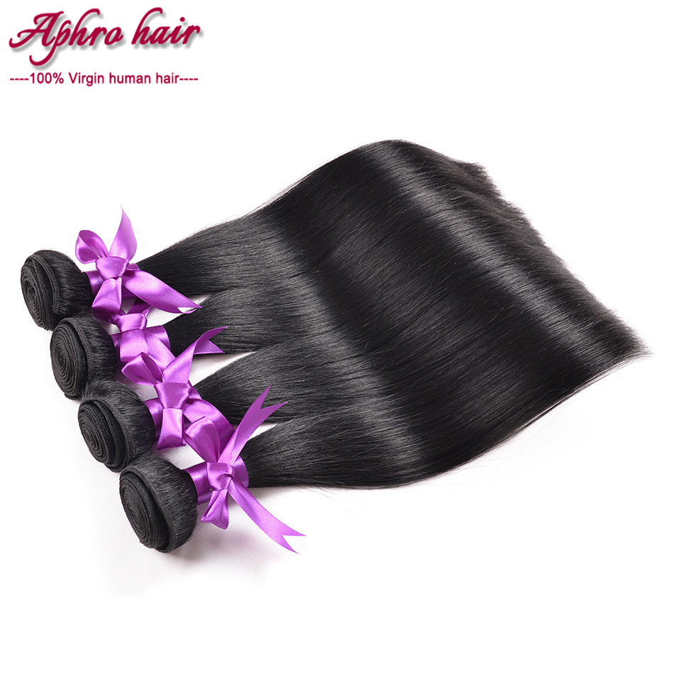 unprocessed virgin brazilian straight hair 4pcs lot aliluxy hair straight human hair bundles 100% human hair weaving fast deals