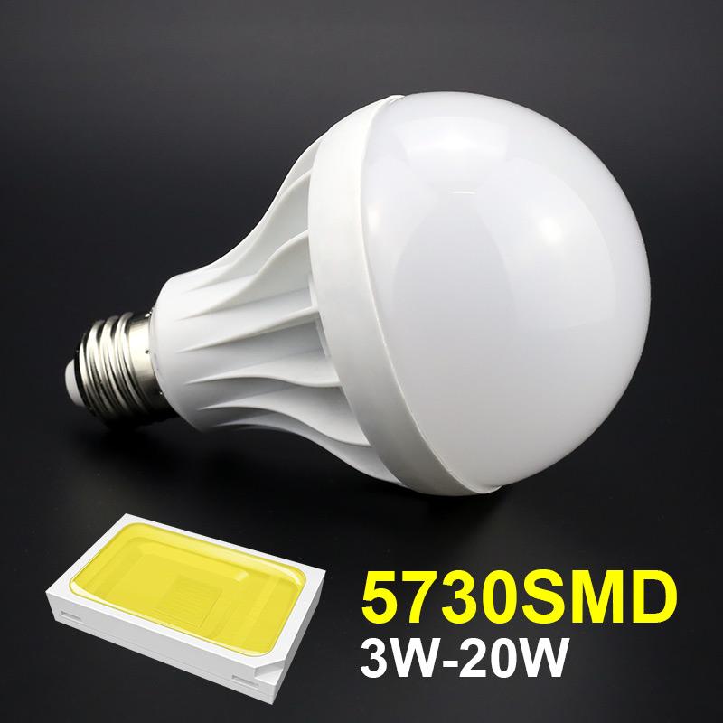20w E27 Led bulb SMD 5730 220V 110V High power Led lamp Cool white Warm white Light for 180 degree Living room Bedroom Lighting(China (Mainland))