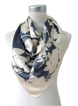 2015 Fashion Women Square Silk Scarf Shawl Printed Spring Autumn National Brand Beige Scarves Hot Sale Satin Silk Scarf Wraps(China (Mainland))