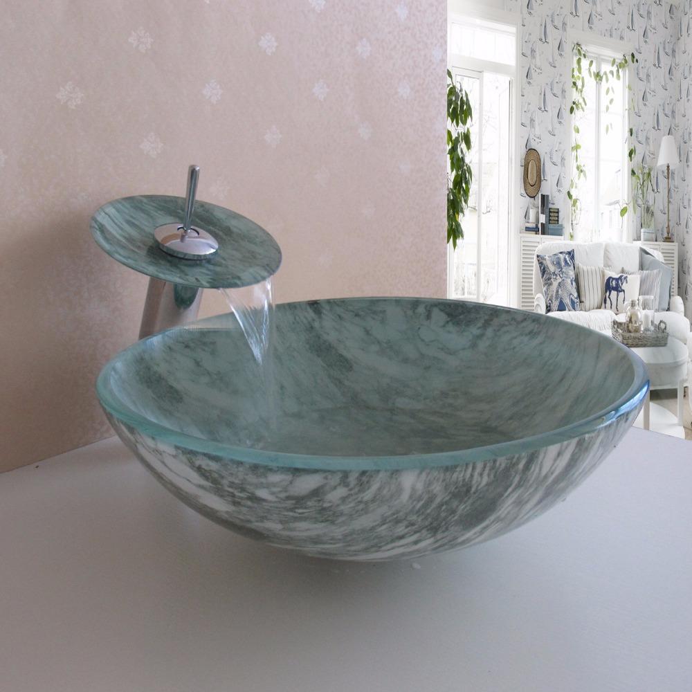 online kaufen gro handel glasschale waschbecken aus china. Black Bedroom Furniture Sets. Home Design Ideas