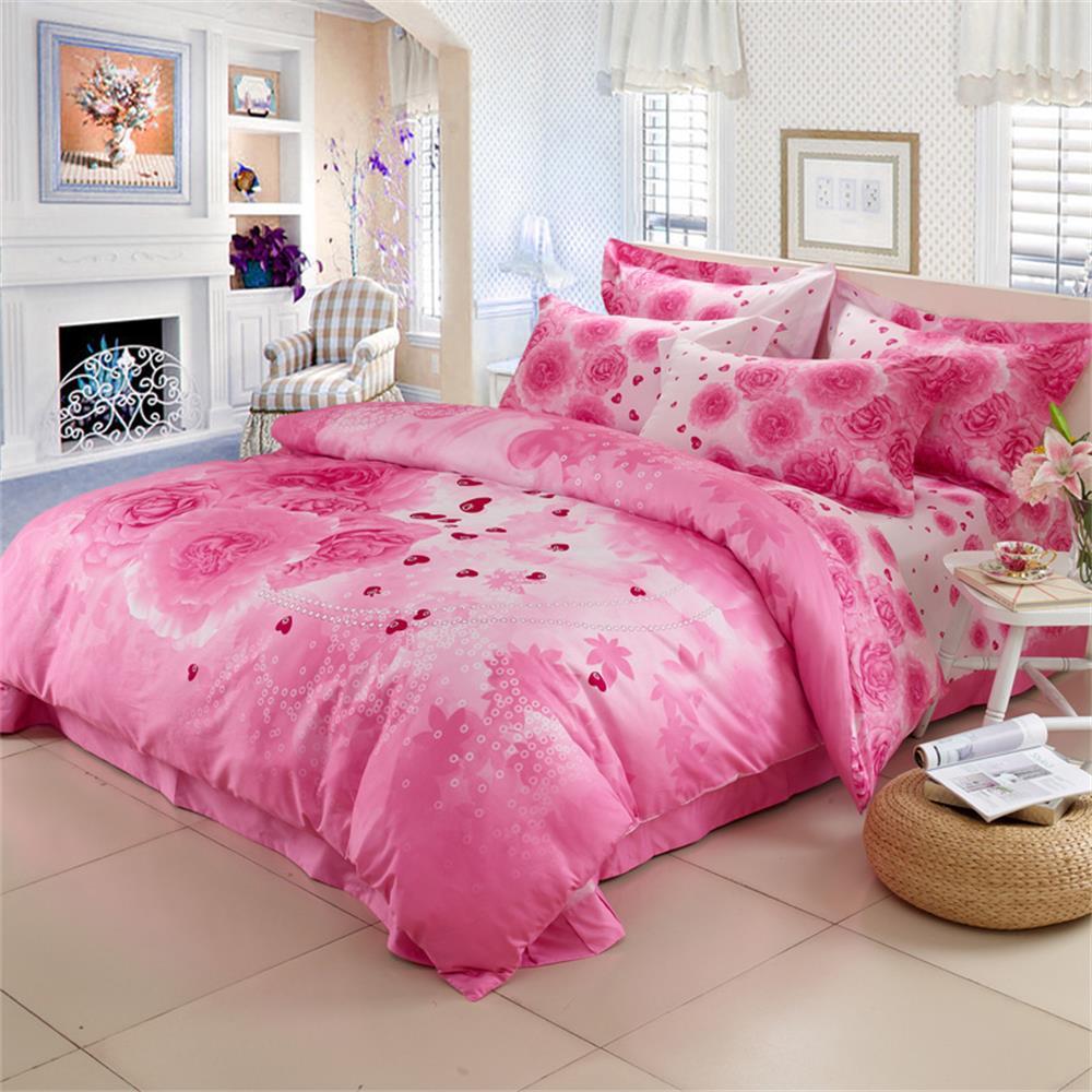 roses housse de couette promotion achetez des roses housse de couette promotionnels sur. Black Bedroom Furniture Sets. Home Design Ideas