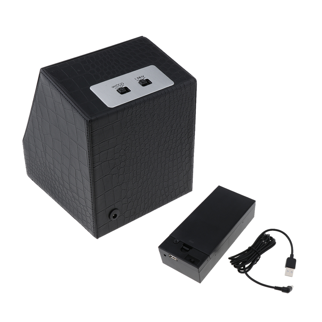 Automatic Rotation Watch Winder Storage Display Case Box Artificial Leather