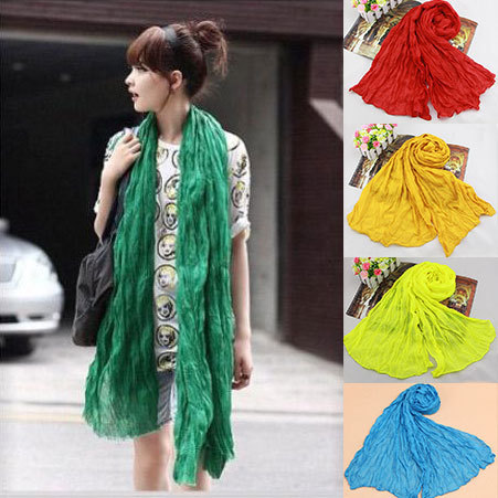 minorder $10 Winter American and Europe Hottest Women Fashion Solid Cotton Voile Warm Soft Scarf Shawl Cape Available WEIN1(China (Mainland))
