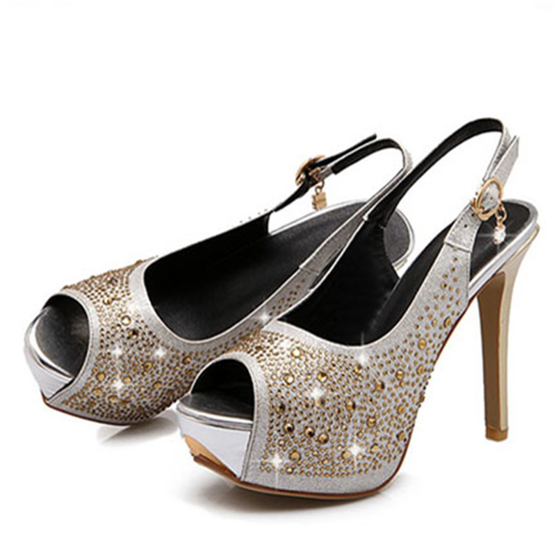 Women pumps sexy platform genuine leather high heels fish for Fish head shoes