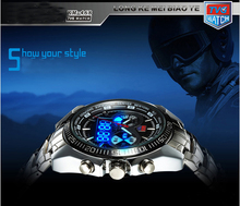 Hot Selling Brand TVG Men Full Steel Watches LED Digital Quartz Chronograph Watch 50m Waterproof Dive Sports Military Watches