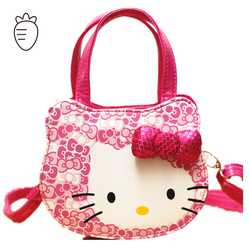Hello Kitty children bags for girls handbags bow flower small messenger bag gift cute school kids shoulder bags pink red blue(China (Mainland))