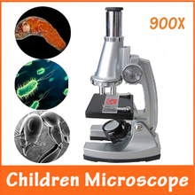 2013 Hot Birthday Gift 100x, 400x, 900x Educational Illuminated LED Student Toy Children Microscope for Kids to Learn Science