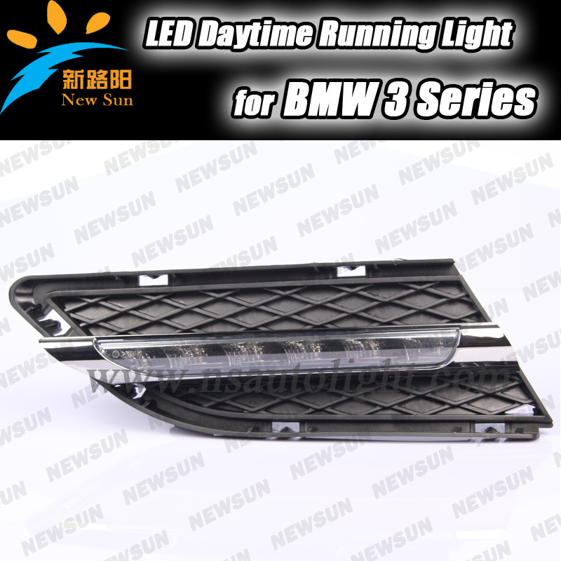 Super Bright car waterproof LED DRL for BMW 3 Series 2010-2012 white LED auto external daytime running lamp with turn signals(China (Mainland))
