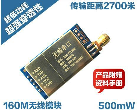 Free Shipping! 500mW wireless remote serial | wireless transceiver module | digital radio | 160M penetration exceeds 433M(China (Mainland))
