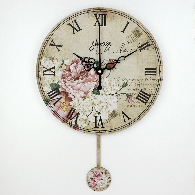 Compra reloj de pared de la vendimia online al por mayor - Relojes de pared retro ...