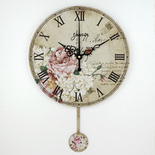 vintage large decorative wall clock absolutely silent quartz home watch wall fashion living room wall watches duvar saati(China (Mainland))