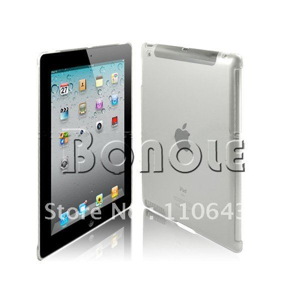 Holiday Sale! 10Pcs/Lot Clear Crystal Hard Back Case Work With Smart Cover Mate For iPad 3 3RD