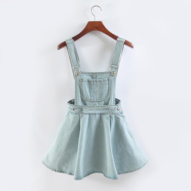 Vivi Japan strap Джинса dress summer detachable Джинса dress student Женщины kawaii ...