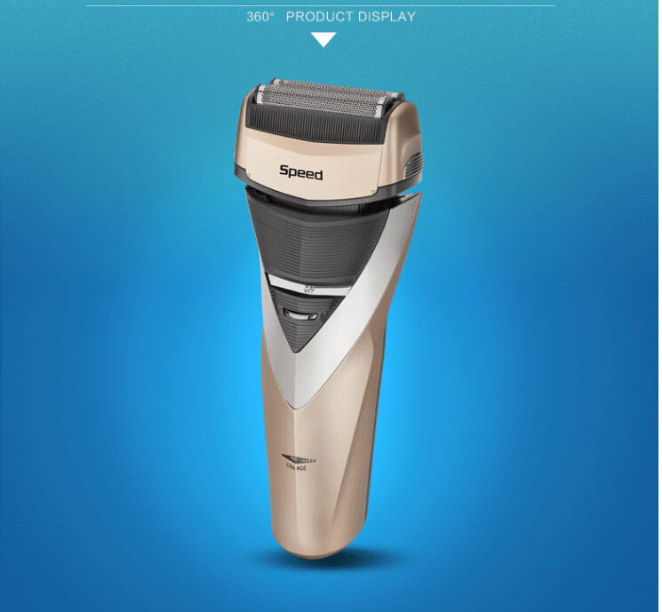 2016 Kemei Electric Rechargeable Shaver Reciprocating Double for Men Razor Groomer Wet and Dry Use Free Shipping(China (Mainland))