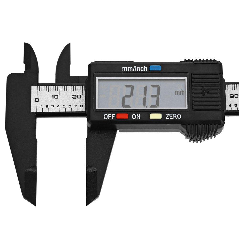 Digital Caliper Measurement : Mm inch lcd digital electronic carbon fiber vernier