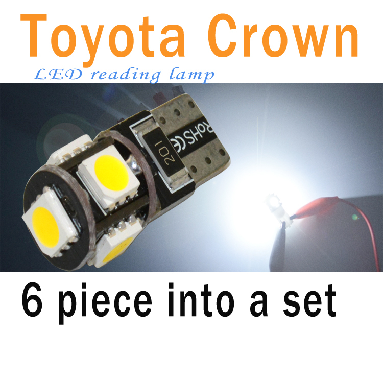 4PC Reading light set T10 W5W 194 led tail box lamp12V 2W Luggage Compartment Lights Canbus 5SMD led light car lamp product Bulb(China (Mainland))
