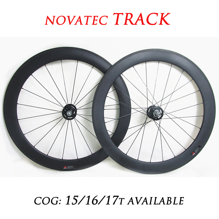 50mm Carbon Track Bicycle Wheelset, 700c Tubular Bike Wheels, Novatec Hubs Single Speed(China (Mainland))