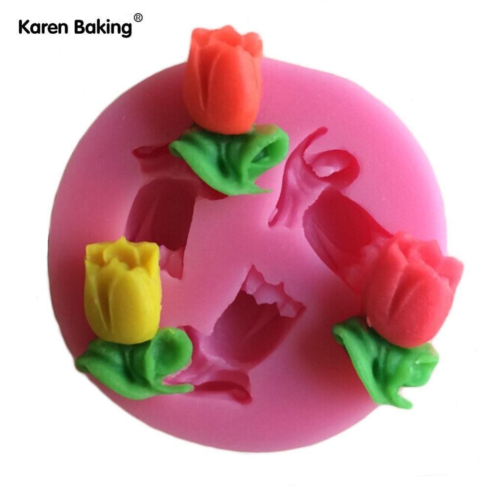 Mini Rose Shape Fondant Cake Molds Soap Chocolate Mould For The Kitchen Baking C351(China (Mainland))