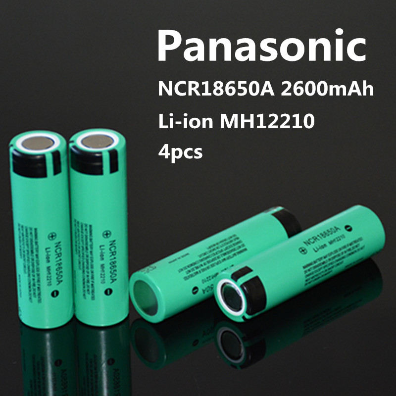 2016 New 4PCS 100% original NCR18650A 3.7V 2600mAh 18650 for Panasonic rechargeable lithium battery ree shopping<br><br>Aliexpress