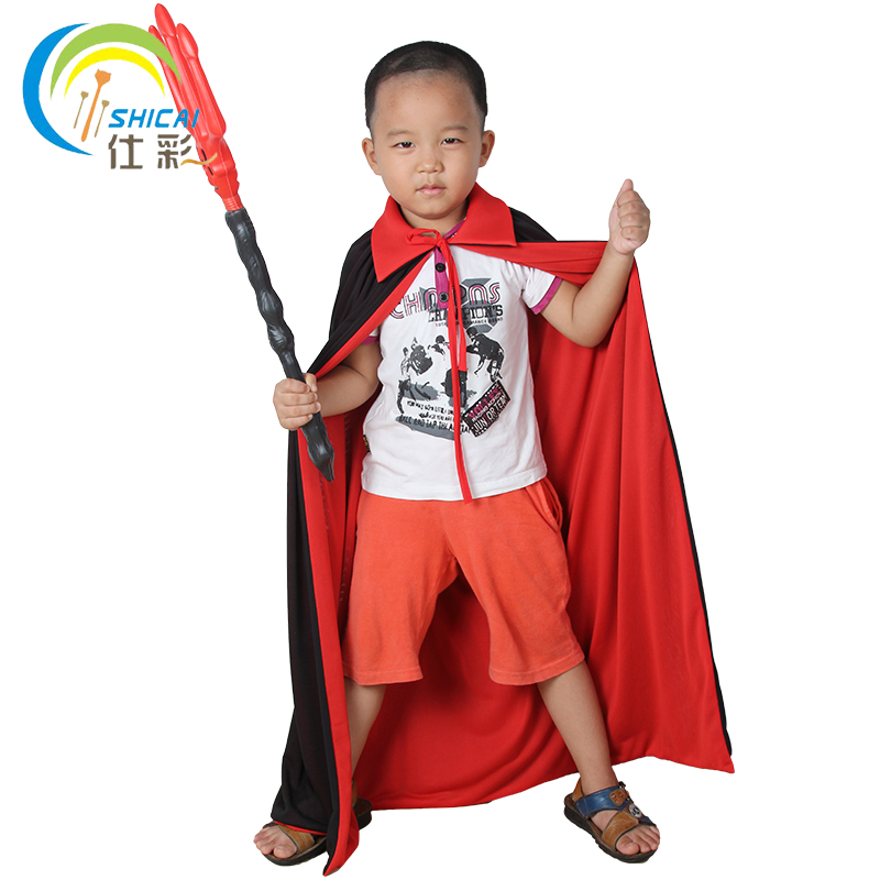 Free shipping children's Halloween vampire cape dress dance party activities props supplies Christmas Cosplay Costumes witches(China (Mainland))
