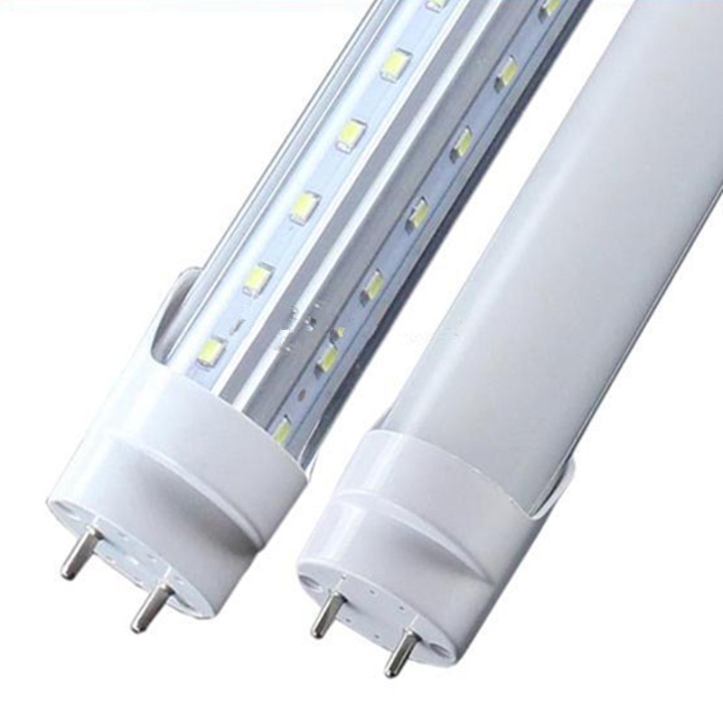 New V-Shaped Double Pin G13 T8 T10 T12 LED Light Tubes 1200MM 1500MM 1800MM 2400MM SMD2835 LED Fluorescent Lamps AC 85-265V(China (Mainland))