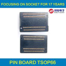 Buy TSOP66 Pin Board TSOP66-0.65 Interposer Board 66 pins Receptacle Pin Adapter Plate Test Socket Plug pin for $9.49 in AliExpress store