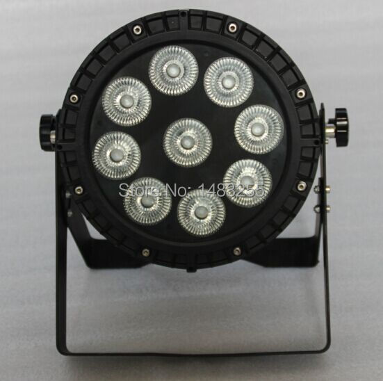 Free shipping (4/lot) waterproof ip65 outdoor 9x18w led par can light(China (Mainland))