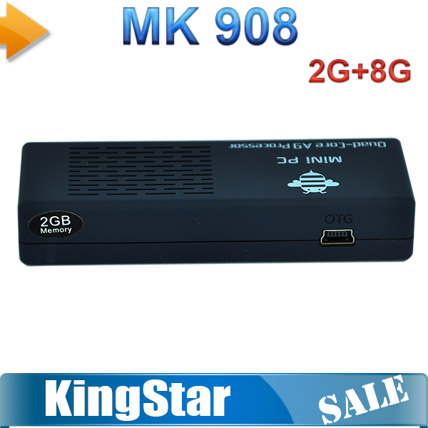 Free Shipping In Stock Tronsmart MK908 RK3188 Quad Core Mini PC Android4.2 Smart TV Box 2GB RAM 8GB ROM Bluetooth4.0 IPTV Stick(China (Mainland))