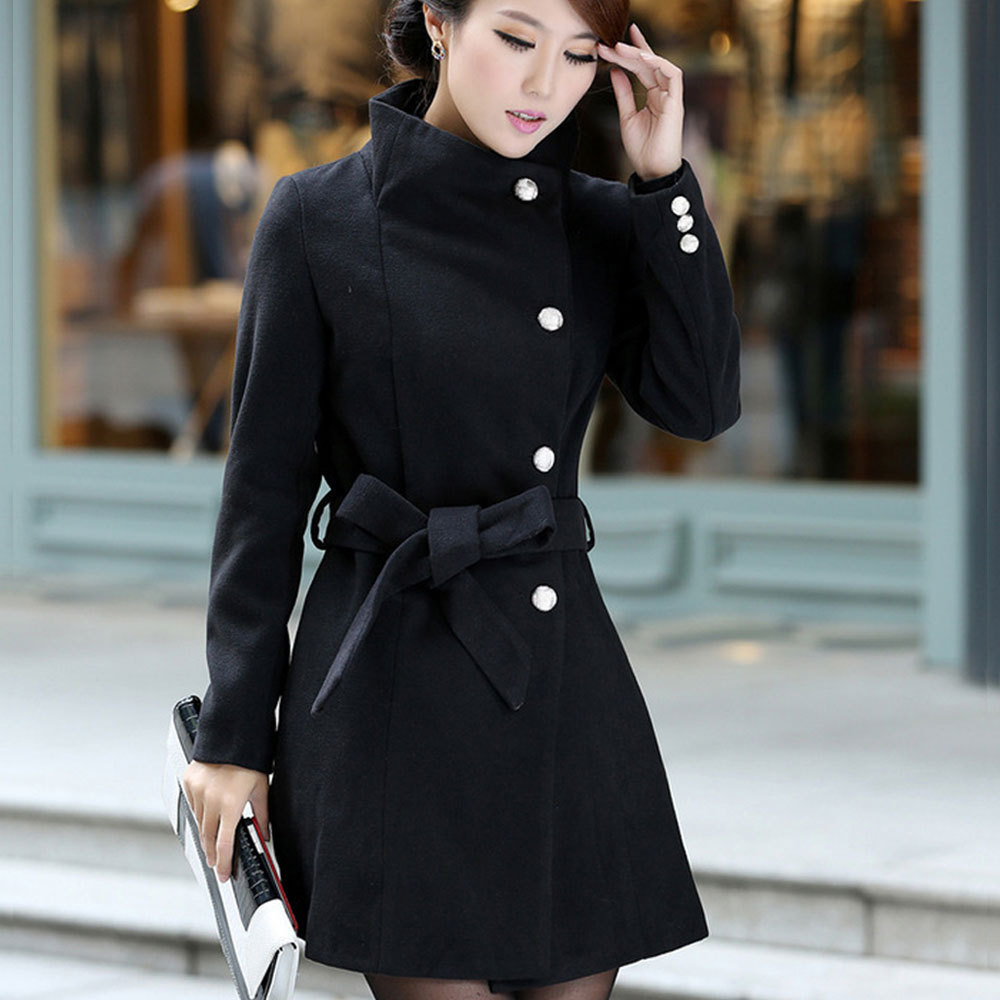 Collection Womens Black Coats Pictures - Reikian