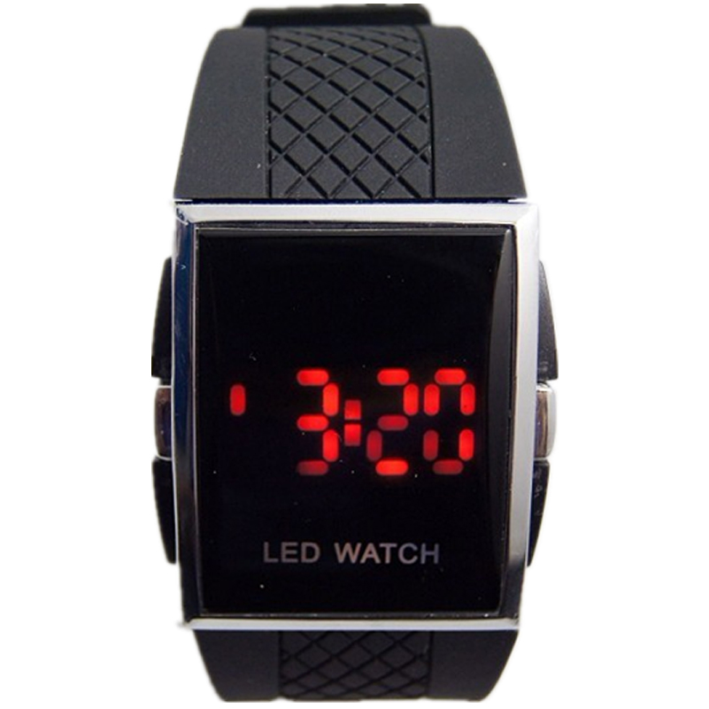 square led digital electronic wristwatches mens