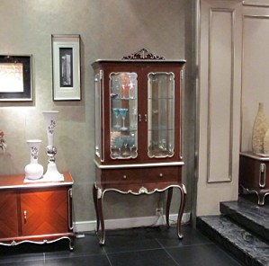 New classical furniture fashion wood display cabinet glass double door wine cooler door wine cooler MSG ADJUST SHIPPING(China (Mainland))