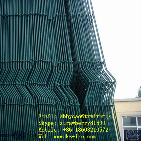 Wholesale Wire Mesh Fence Panel, Dark Green Color, 3 Folds(China (Mainland))
