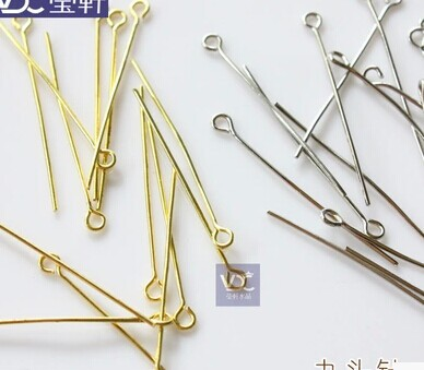 10000pcs/bag 38*0.3mm golden plated metal connectors pins findings diy octagon beads prism pendant  accessories<br><br>Aliexpress