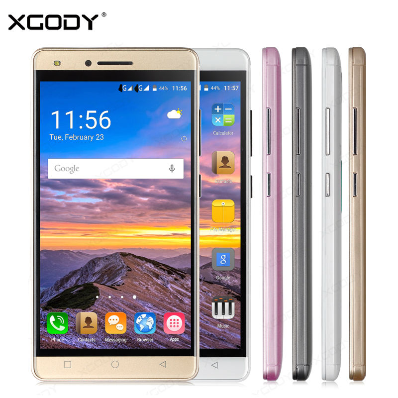 XGODY 5 inch Smartphone Android 5.1 Quad Core 512MB+8GB 5MP Camera Dual Sim Cards Camera Mobile Phone with Case(China (Mainland))