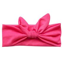 Lovely Elastic Stretch Plain Rabbit Bow Knot Hairbands Hair Bands Headband Head Bands Turban Headwear Hair Accessories For Woman(China (Mainland))