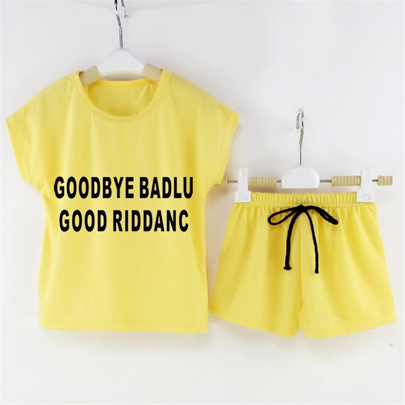 2016 Retail Sale New Baby Girls Kids Clothing Set Summer T-shirt Tops And Pants Suits Children's Clothes Free shipping