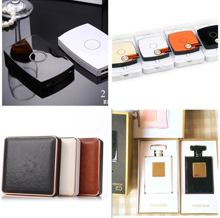2016 Cigarette case Power Bank make up mirror Port External mobile Powerbank portable battery charger For all ISO Android Phones(China (Mainland))