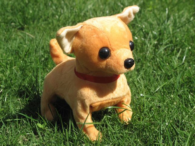 stuffed animal plush toy 16cm Electric Chihuahua dog barking puppy walking and wagging its tail dog doll children's gift k0486(China (Mainland))